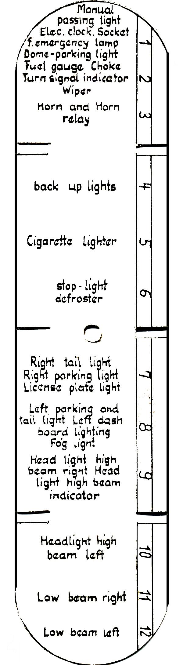 fuse box label  1961 mercedes benz engine diagram