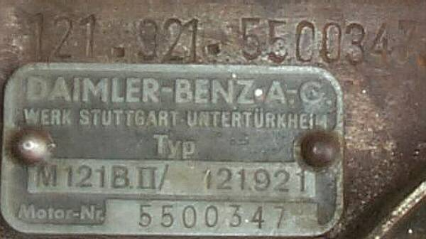 Mercedes Benz Engine Serial Numbers